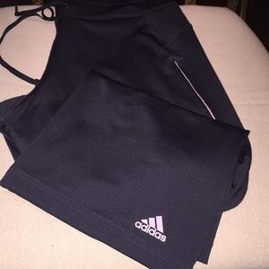 ADIDAS Gray and lilac yoga Capri pants Medium